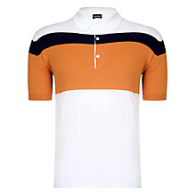 Buy John Smedley Janko Polo, White/Orange Online at johnlewis.com