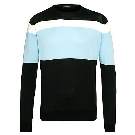 Buy John Smedley Gabe Stripe Crew Neck Jumper Online at johnlewis.com