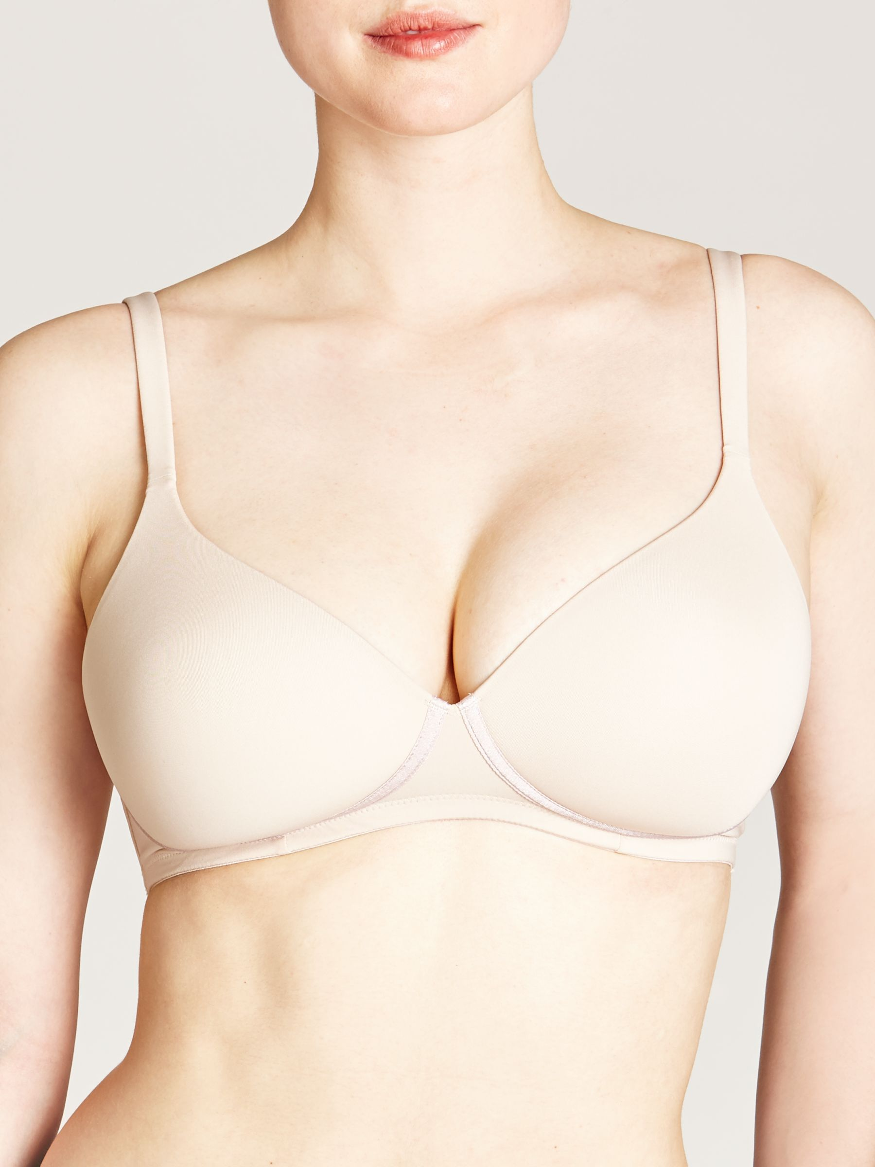 John Lewis DD Plus Wired T-Shirt Bra, Nude