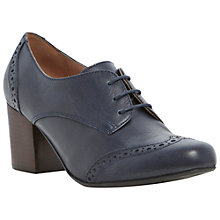 Buy Dune Abada Heeled Brogue Shoes, Navy Online at johnlewis.com