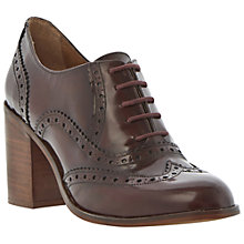 Buy Bertie Loxeley Leather Block Heel Wingtip Brogues Online at johnlewis.com