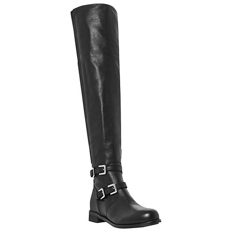 Buy Bertie Tarmac Leather Knee Boots, Black Online at johnlewis.com
