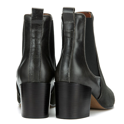 Buy Whistles Carlie Chelsea Boots, Dark Grey Online at johnlewis.com