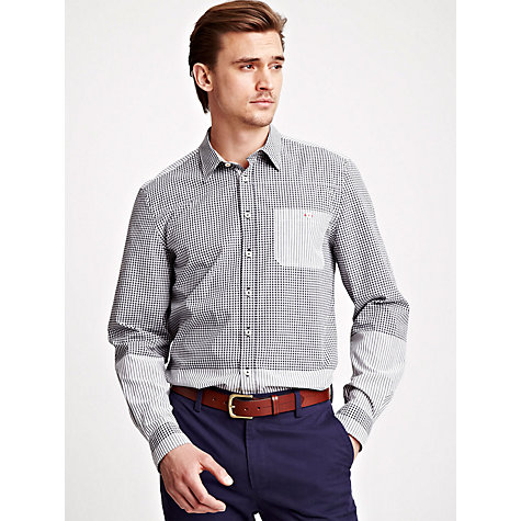 Buy Thomas Pink Stacy Check Cotton Shirt, White/Black Online at johnlewis.com