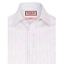 Buy Thomas Pink Cobbe Stripe Double Cuff Shirt, White/Red Online at johnlewis.com