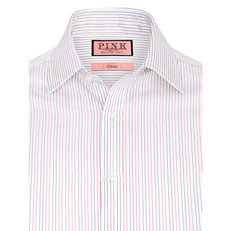 Buy Thomas Pink Cobbe Stripe Long Sleeve Shirt, Red/White Online at johnlewis.com