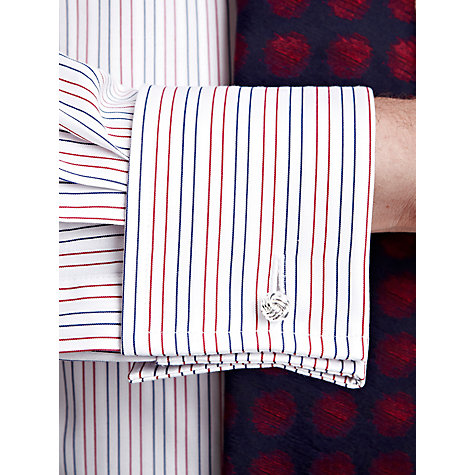 Buy Thomas Pink Cobbe Stripe XL Sleeve Shirt, Red/White Online at johnlewis.com