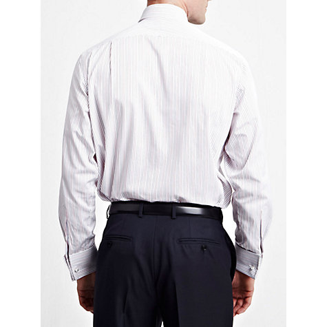 Buy Thomas Pink Cobbe Stripe Double Cuff Shirt, Red/White Online at johnlewis.com