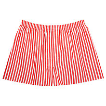 Buy Thomas Pink Coleford Stripe Boxer Shorts, Red/White Online at johnlewis.com