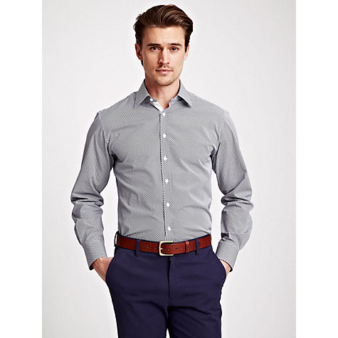 Buy Thomas Pink Saltoun Textured Pattern Shirt, Blue/White Online at johnlewis.com