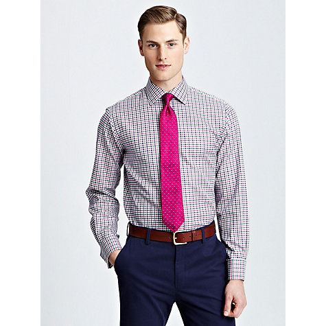 Buy Thomas Pink Trousdell Double Cuff Shirt, White/Green/Pink Online at johnlewis.com