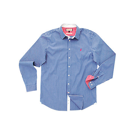 Buy Thomas Pink Latitude Stripe Shirt, Blue Online at johnlewis.com