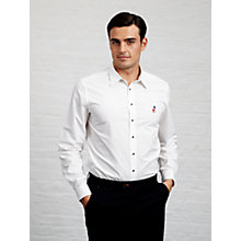 Buy Thomas Pink Phillip Plain Shirt, White Online at johnlewis.com