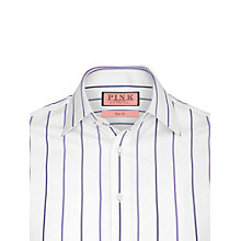 Buy Thomas Pink Leslie Stripe Shirt, White/Purple Online at johnlewis.com