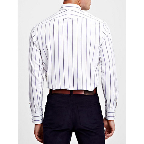 Buy Thomas Pink Leslie Stripe Shirt, Purple/White Online at johnlewis.com