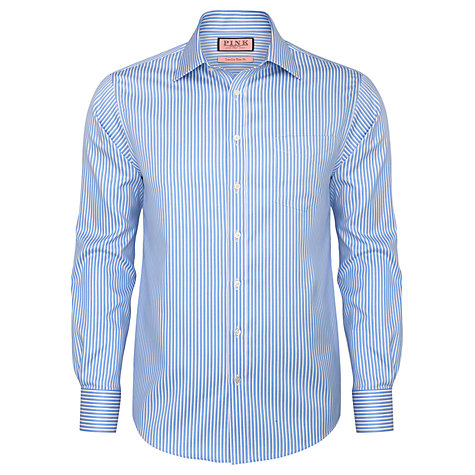 Buy Thomas Pink Stanwix Stripe Shirt, Blue/White Online at johnlewis.com