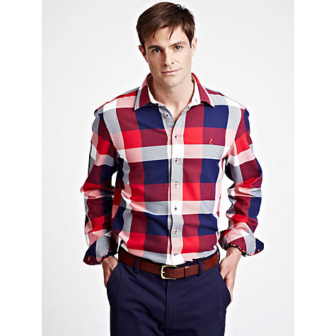 Buy Thomas Pink Havelock Check Shirt, Red/White/Blue Online at johnlewis.com