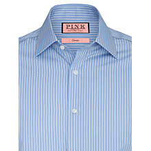 Buy Thomas Pink Allason Stripe XL Sleeve Shirt, Blue Online at johnlewis.com