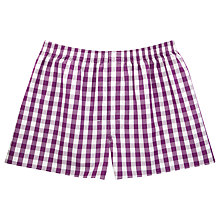 Buy Thomas Pink Gillingham Check Boxer Shorts Online at johnlewis.com
