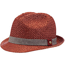 Buy Ted Baker Turnba Woven Trilby Hat, Red Online at johnlewis.com