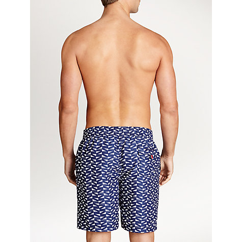 Buy Tommy Hilfiger Geo Print Swim Shorts, Navy/White Online at johnlewis.com