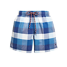Buy Tommy Hilfiger Bay Check Swim Shorts Online at johnlewis.com