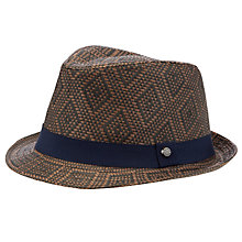 Buy Ted Baker Wovent Woven Trilby Hat, Brown Online at johnlewis.com