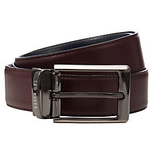 Buy Ted Baker Reversible Leather Belt, Burgundy/Black Online at johnlewis.com