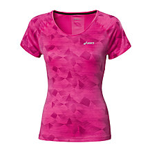 Buy Asics Graphic Scoop Top, Pink Online at johnlewis.com