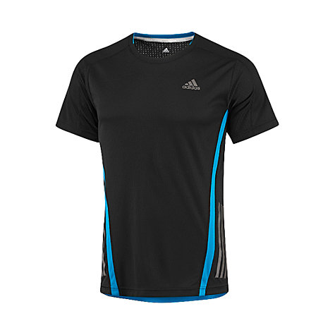 Buy Adidas Supernova Short Sleeve Crew Neck Running Top, Black Online at johnlewis.com