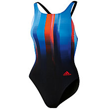 Buy Adidas Adiclub Art One Piece Swimsuit, Blue/Black Online at johnlewis.com