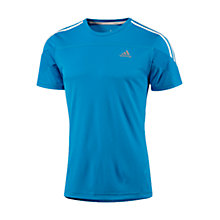 Buy Adidas Response Short Sleeve Crew Neck T-Shirt, Blue Online at johnlewis.com