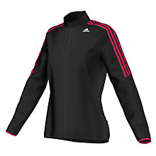 Buy Adidas Response Classic Full-Zip Jacket, Black/Pink Online at johnlewis.com