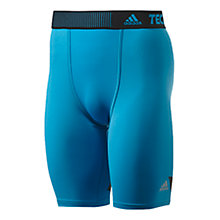 Buy Adidas Techfit Climacool Training Shorts, Blue Online at johnlewis.com
