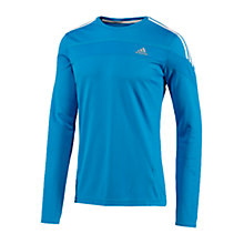 Buy Adidas Response Long Sleeve T-Shirt, Blue/White Online at johnlewis.com