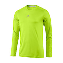 Buy Adidas Sequencials CLIMACOOL Long Sleeve Running Top, Yellow Online at johnlewis.com