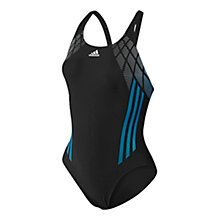 Buy Adidas Infinitex Graphic One Piece Swimsuit, Black Online at johnlewis.com