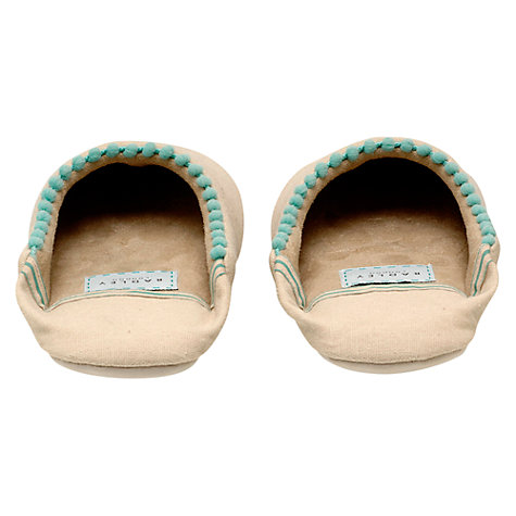 Buy Radley Dorrie Mule Slippers, Natural Online at johnlewis.com
