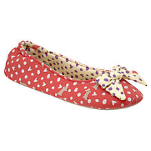 Buy Radley Hibbert Bow Ballerina Slippers, Pink Online at johnlewis.com