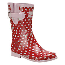 Buy Radley Hibbert Printed Short Wellie Boots, Pink Online at johnlewis.com