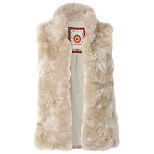 Buy White Stuff Filo Faux Fur Gilet, Neutral Online at johnlewis.com