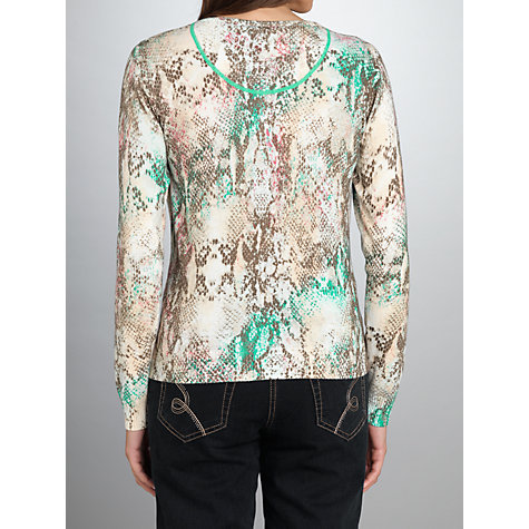 Buy Betty Barclay Animal Print Cardigan, Blue/Green Online at johnlewis.com