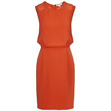 Buy Whistles Alison Mesh Insert Dress, Red Online at johnlewis.com