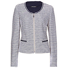 Buy Betty Barclay Striped Zip-Up Jacket, Beige/Blue Online at johnlewis.com
