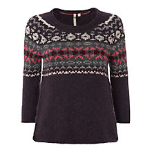 Buy White Stuff  Chloe Knitted Jumper, Blackcurrant Online at johnlewis.com