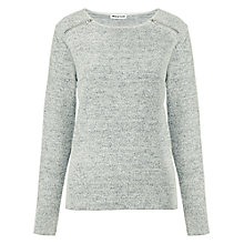 Buy Whistles Textured Zip Neck Sweatshirt, Grey Online at johnlewis.com