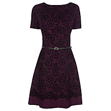 Buy Oasis Lace Skater Dress, Dark Purple Online at johnlewis.com