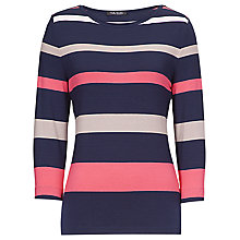 Buy Betty Barclay Round Neck Striped T-Shirt, Multi Online at johnlewis.com