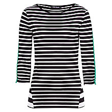 Buy Betty Barclay Striped T-Shirt, Black/Nature Online at johnlewis.com