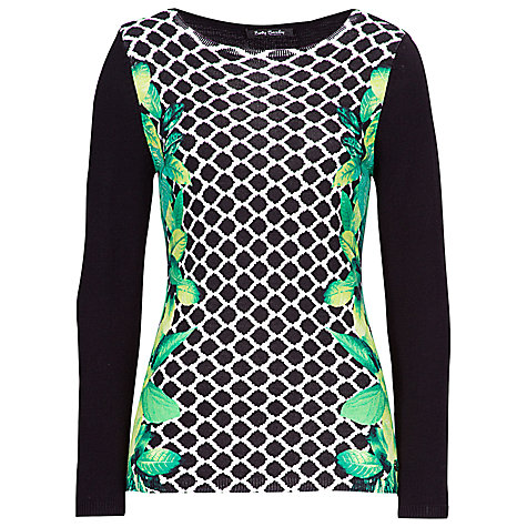 Buy Betty Barclay Long Trellis Print Jumper, Black/Nature Online at johnlewis.com